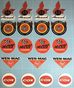 19 Vintage Stickers For Cox, McCoy, Wen-Mac, OK Cub, and Ohlsson Rice
