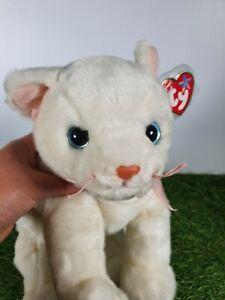 "1999 TY BEANIE Buddy FLIP White CAT KITTEN PLUSH SOFT STUFFED ANIMAL TOY 11"""