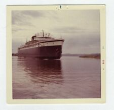Vintage Photo Freight Ship Boat 1960's R14