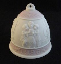 Lladro Collectors Society Pink Band Bisque Porcelain Bell 1996 Made in Spain