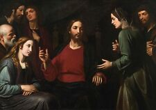 """oil painting handpainted on canvas""""Christ in the House of Mary and Martha """"N5888"""