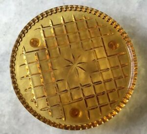 Lovely Vintage Amber Glass Footed Cake Stand