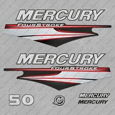 Mercury 50 hp Four Stroke EFI outboard engine decals sticker set reproduction