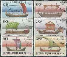 Timbres Bateaux Bénin 768/73 o lot 25103