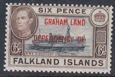 FALKLAND IS.DEPENDENCIES:1945 GRAHAMLAND 6d blue-black and brown SG A6a nh mint
