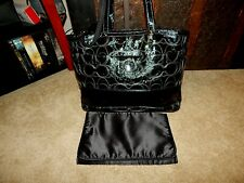 Coach Handbag F19256 Diaper Bag Stitched Signature Black Leather Tote Carryall