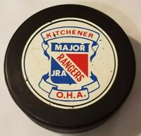 KITCHENER RANGERS MAJOR JR. A VINTAGE OHA OFFICIAL GAME PUCK VICEROY CANADA SLUG