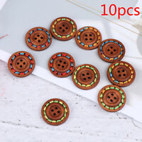10pcs Wooden Buttons Natural Sewing Buttons Craft Clothes Decor clothing Craf JC