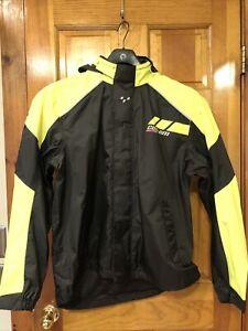 New OEM CanAm Spyder Roadster  Rain Jacket  size Large Mens Yellow Black
