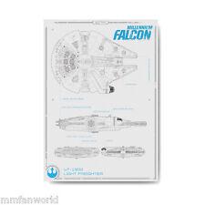 Star Wars Poster Das Erwachen der Nacht Millenium Falcon Plakat