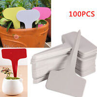 50/100* 6CMx10CM Plastic Plant T-type Tag Markers Nursery Garden Yard Labels US