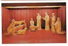THE NATIVITY Scene Christ Art Museum WOOD CARVING Spooner Wisconsin Postcard