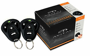 Avital 5105L Alarm & Remote Starter 1500 Ft  Range TWO 4-Button Remotes NEW