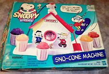 Hasbro Snoopy & Friends Sno-Cone Machine #28805 In Box Works 1999 Instructions