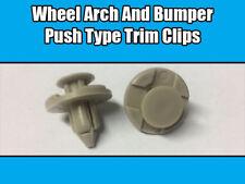 10x Push Type Clips pour Nissan Mitsubishi Toyota pare-chocs Passage de roue gris en plastique