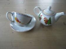 Single Teekannen-Set 4 tlg. Teekanne mit Tasse Weihnachten Porzellan Neu 20927