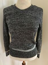 Vintage 1970s Silver Grey Metallic Knit Jumper from POETIC OF SCOTLAND - Size 8
