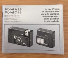 Rollei A 26 C26 In Practical Use Manual, Instruction Book Genuine Original