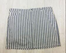Croft & Barrow Womens Classic fit  Skort Skirt w/Shorts Stripped Sz 24 W NWT