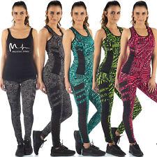 MALUCAS SPORTS Damen Sport Set Leggings+Tanktop Trainingsanzug Gym Yoga Fitness