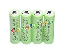 4x AA 3000mAh 1,2 V Ni-MH rechargeable pile Vert Couleur cellule MP3 Jouets RC
