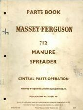 Massey Ferguson 712 Manure Spreader Parts Manual - MF712