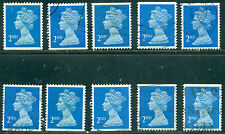 GREAT BRITAIN SG-1449, SCOTT # MH-179 MACHIN USED, 10 STAMPS, GREAT PRICE!