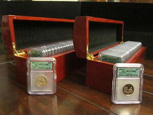1999-S - 2008-S State Quarters ICG PR70DCAM Full Set 50 Coins including Delaware
