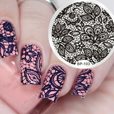 BORN PRETTY Nail Art Stamping Image Plate Stencil Lace Arabesque DIY BP-103
