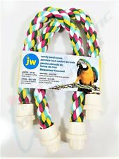 "JW Pet Comfy Perch Cross 25"" Large Multicolored for Macaws and Other Large Birds"