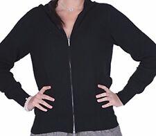 Balldiri 100% Cashmere Kaschmir Damen Hoody mit  Kapuze 2-fädig schwarz XL