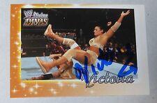 Victoria Signed WWE 2003 Fleer Divine Divas Card #49 Pro Wrestling Autograph TNA