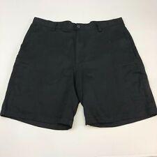 IZOD Extreme Function Golf Shorts Mens 40 Black Flat Front Zip Pockets Sports