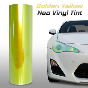 "12""x12"" Chameleon Neo Yellow Headlight Fog Light Taillight Vinyl Tint Film (d)"