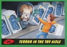 Mars Attacks The Revenge Green Base Card #29 Terror in the Toy Aisle