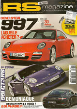 RS MAGAZINE 168 PORSCHE 991 GT3 RS DOSSIER OCCASION 997 930 TURBO 964 SPEEDSTER