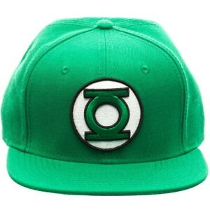 DC COMICS GREEN LANTERN JUSTICE LEAGUE 3D LOGO SNAPBACK HAT CAP FLAT BILL RETRO