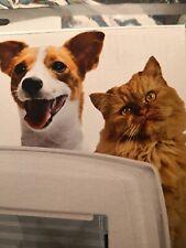 Ferplast 4 Way Manual Cat Flap Swing 3 White Pet Puppy Door Entrance catflap
