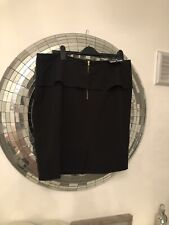 NEW LOOK - Size 18 Black PEPLUM SKIRT - Bnwt Work Office Smart Wear