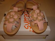 Girl Jumping Beans Floral Accents White Sandals Size 11 Junior Nib