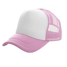 Men Women Meshback Foam Baseball Caps Snapback Adjustable Solid Trucker Hats