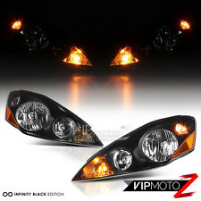 Pair 2006-2010 Toyota Sienna LE XLE Black Factory Style Headlights Left Right