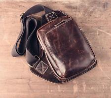 Handmade Retro Brown Geunie Leather Back pack. Mens Bag Accessory.