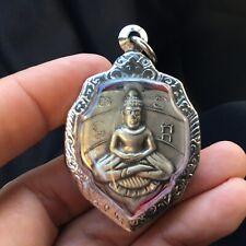 .Phra Lp Bai Leaf Buddha Amulet Talisman Fetish Charm Luck Love Rich Protected