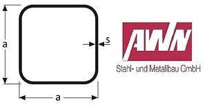 Quadratrohre Stahl S235 Vierkantrohre Profilstahlrohr Hohlprofile Eisenrohr St37