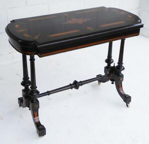 Victorian Ebonised and Inlaid Centre Table