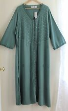 NWT Soft Surroundings Lux Art-to-Wear Caftan Lounge Long Princess Dress Sz 1X