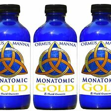MONATOMIC GOLD ORMUS 8 oz BOTTLE +10 grams ROSE GOLD ORMUS POWDER Extract COMBO!