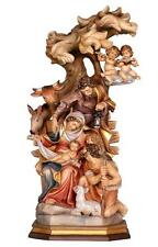 "PEMA Hand Carved & Painted Block Nativity Scene - 12"" From Italy"