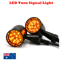 2x Black LED Motorcycle Turn Signal indicator Light Harley Ultra Tour Glide clas